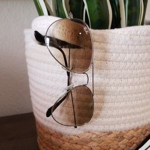 Rayban aviator sunglasses silver frames